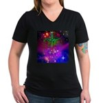 Mystic Skeletal Soul Women's V-Neck Dark T-Shirt