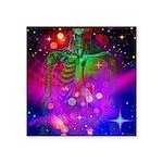 "Mystic Skeletal Soul Square Sticker 3"" x 3&qu"