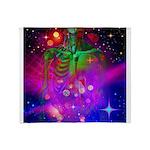 Mystic Skeletal Soul Throw Blanket