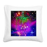 Mystic Skeletal Soul Square Canvas Pillow