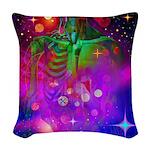 Mystic Skeletal Soul Woven Throw Pillow