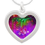 Mystic Skeletal Soul Silver Heart Necklace