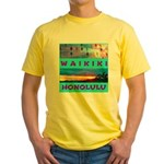 Waikiki Hawaii Sunsets Yellow T-Shirt