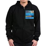 Waikiki Hawaii Sunsets Zip Hoodie (dark)