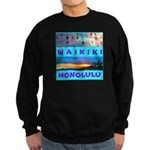 Waikiki Hawaii Sunsets Sweatshirt (Dark)