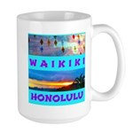 Waikiki Hawaii Sunsets Large Mug