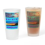 Waikiki Hawaii Sunsets Drinking Glass