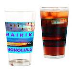 Waikiki Hawaii Sunsets Drinking Glass