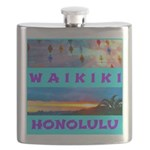 Waikiki Hawaii Sunsets Flask