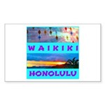 Waikiki Hawaii Sunsets Sticker (Rectangle 50 pk)