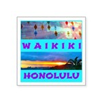 Waikiki Hawaii Sunsets Square Sticker 3