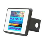 Waikiki Hawaii Sunsets Rectangular Hitch Cover