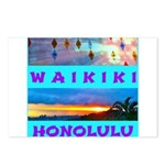 Waikiki Hawaii Sunsets Postcards (Package of 8)