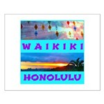 Waikiki Hawaii Sunsets Small Poster