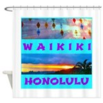 Waikiki Hawaii Sunsets Shower Curtain