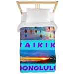 Waikiki Hawaii Sunsets Twin Duvet
