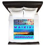 Waikiki Hawaii Sunsets King Duvet