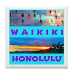 Waikiki Hawaii Sunsets Tile Coaster