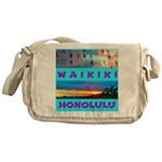 Waikiki Hawaii Sunsets Messenger Bag