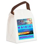 Waikiki Hawaii Sunsets Canvas Lunch Bag