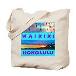 Waikiki Hawaii Sunsets Tote Bag