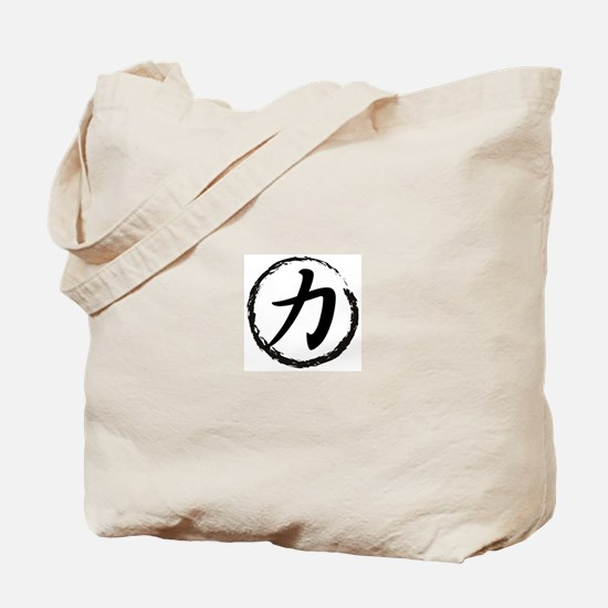 Kanji Symbol Strength Tote Bag