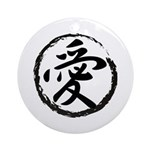 Kanji Symbol Love Ornament (Round)