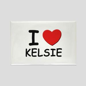 I love Kelsie Rectangle Magnet
