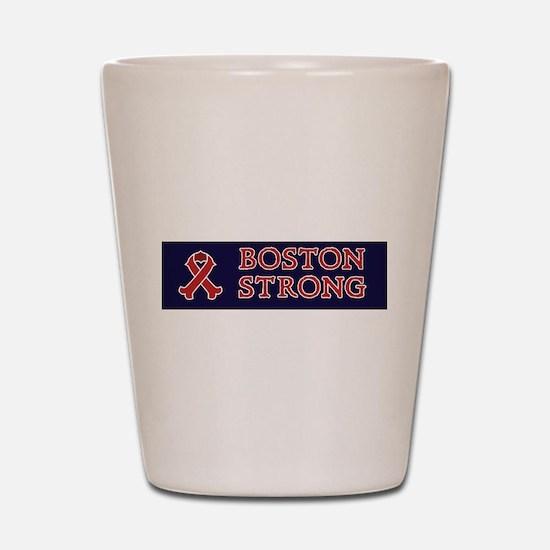 Boston Strong Ribbon Shot Glass