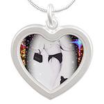 Drag Circa SisterFace 1991 Silver Heart Necklace