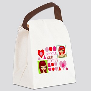 Nicole Red Hotty design Canvas Lunch Bag
