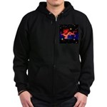 Chinese Lucky Dragon Zip Hoodie (dark)