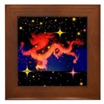 Chinese Lucky Dragon Framed Tile
