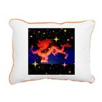 Chinese Lucky Dragon Rectangular Canvas Pillow