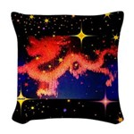 Chinese Lucky Dragon Woven Throw Pillow