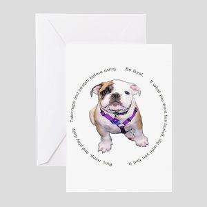 Loyal Bulldog Puppy Greeting Cards (Pk of 10)