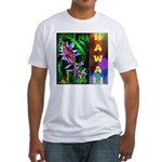 Hawaiian FireCracker Heliconia Fitted T-Shirt