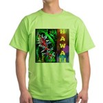 Hawaiian FireCracker Heliconia Green T-Shirt