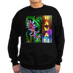 Hawaiian FireCracker Heliconia Sweatshirt (dark)
