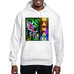 Hawaiian FireCracker Heliconia Hooded Sweatshirt