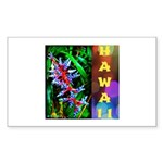 Hawaiian FireCracker Heliconia Sticker (Rectangle