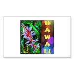 Hawaiian FireCracker Heliconia Sticker (Rectangle)