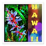 Hawaiian FireCracker Heliconia Square Car Magnet 3
