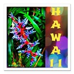Hawaiian FireCracker Heliconia Square Car Magnet 3