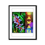 Hawaiian FireCracker Heliconia Framed Panel Print
