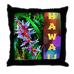 Hawaiian FireCracker Heliconia Throw Pillow