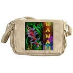 Hawaiian FireCracker Heliconia Messenger Bag