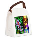 Hawaiian FireCracker Heliconia Canvas Lunch Bag