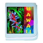 Hawaiian FireCracker Heliconia baby blanket