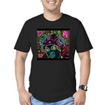 Neon Drag Diva Men's Fitted T-Shirt (dark)